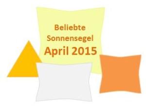 Beliebte Sonnensegel im April 2015
